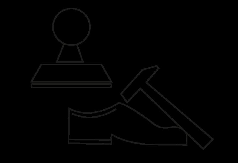 Stempel, Schuhreparatur